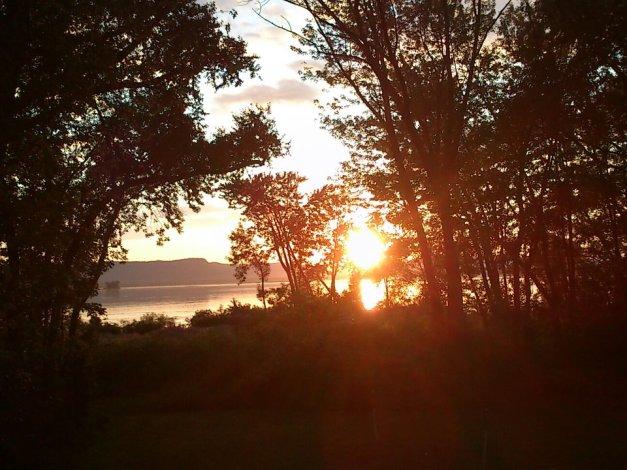 Dan Backyard sunset