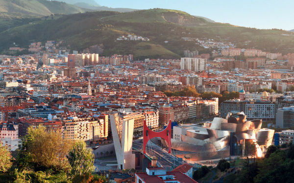 600 x 375 Bilbao City view